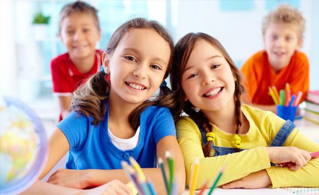Ragazzi felici nella scuola primaria del Collegio Immacolata Conegliano